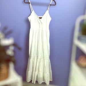 White Cotton BoHo Sundress by Speed Control Sz. M